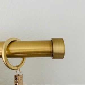 Crate and Barrel End Cap Brass